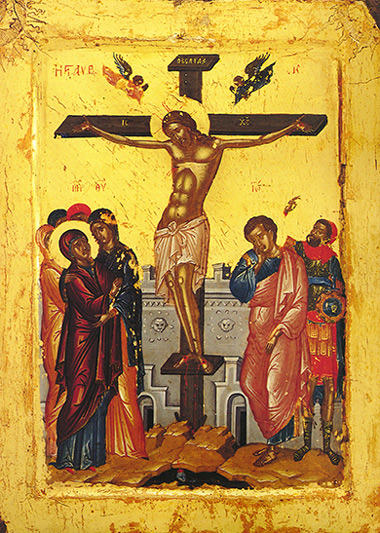 An AD 1552 icon of The Crucifixion